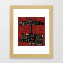 Red Urbanization  Framed Art Print