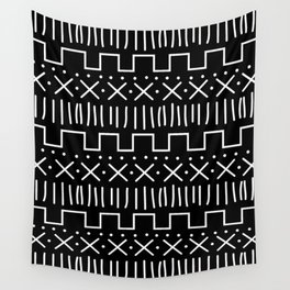 Black Mud Cloth Wall Tapestry