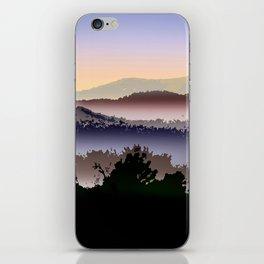 Misty Mountain Foggy Landscape iPhone Skin