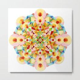 Pastel Carousel Mandala Metal Print
