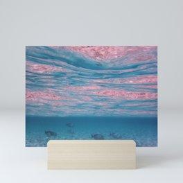Tropical Maldives Summer Waves White Sand Lagoon Mini Art Print