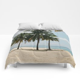 Beach Side Happy Place Comforters