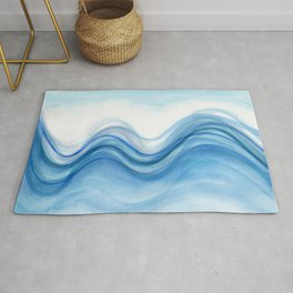 Transparent blue wave Rug