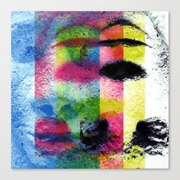 Matter, better suited for the face, not the heart. [CMYK] Canvas Print