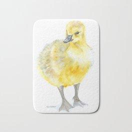 Baby Gosling Goose Watercolor Bath Mat