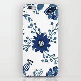 Porcelain Flowers iPhone Skin