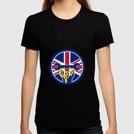 British Mechanic Union Jack Flag Icon T-shirt