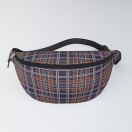 Blue and red plaid Fanny Pack