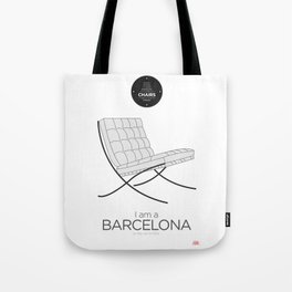 Mies' Barcelona chair (minimalistic version) Tote Bag