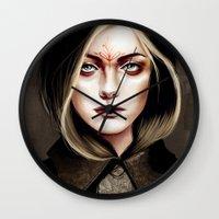 leia Wall Clocks featuring Leia Cole by Feline Zegers