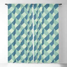 Mint-green marquetry geometric pattern Blackout Curtain