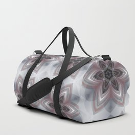 White & Red Flowers Duffle Bag