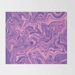 Purple & Rose Agate Throw Blanket