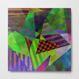 Textured Shapes Part II - Abstract, textured, geometric design Metal Print