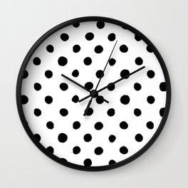 Modern Handpainted Abstract Polka Dot Pattern Wall Clock