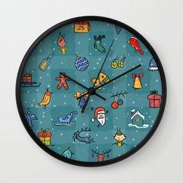 Whimsy Christmas Wall Clock