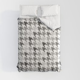Houndstooth White Comforters