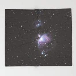 Orion And Running man Nebula's Throw Blanket