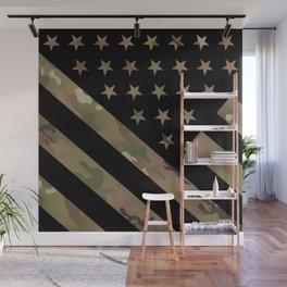 U.S. Flag: Military Camouflage Wall Mural
