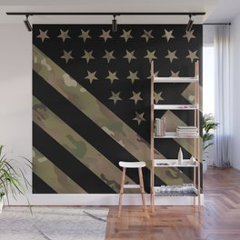 U.S. Flag: Military Camouflage Wall Mural