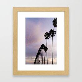 moonlight palms Framed Art Print