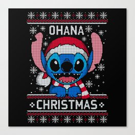 Ohana Christmas ugly sweater Canvas Print