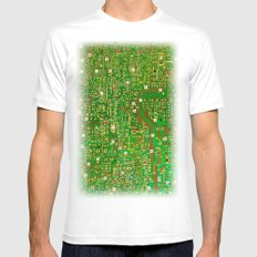 map Mens Fitted Tee SMALL White