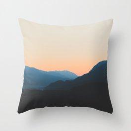 West Coast Sunset Throw Pillow