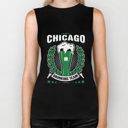 Chicago Drinking Team St Patricks Day Green Beer Biker Tank