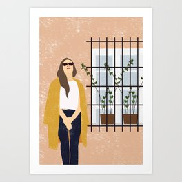 The Girl and The Window Art Print
