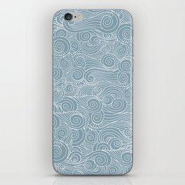 whorl pattern white blue iPhone Skin