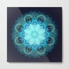 Beautiful Earth Mandala Metal Print