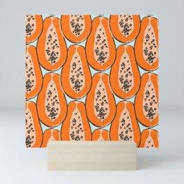 Papaya pattern Mini Art Print