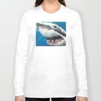 shark Long Sleeve T-shirts featuring Shark by Kristin Frenzel