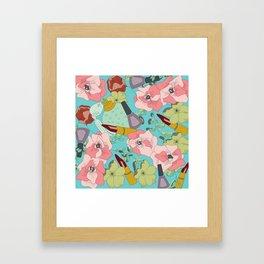 Powder Room in Blue Framed Art Print