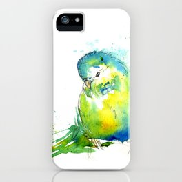 Budgie Series - IV Blue/Green iPhone Case