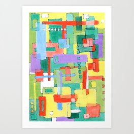 Cocktails in the City Art Print