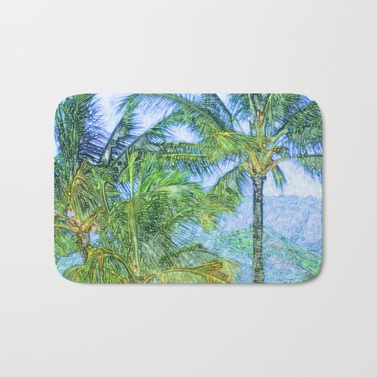 Coconut tree Bath Mat