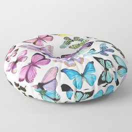 Butterfly Rainbow Floor Pillow