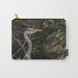 Gray heron on the edge of a pond Carry-All Pouch