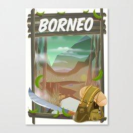 Borneo Jungle poster. Canvas Print