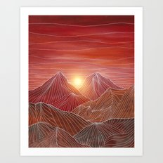Lines in the mountains VI Art Print