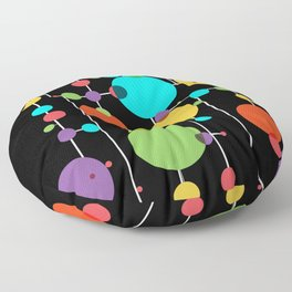 scrambled thoughts Floor Pillow