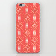 geometric festival pattern peach iPhone & iPod Skin