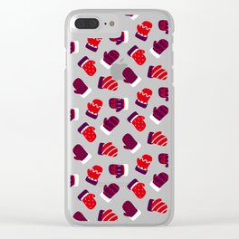 Christmas Mittens! Clear iPhone Case