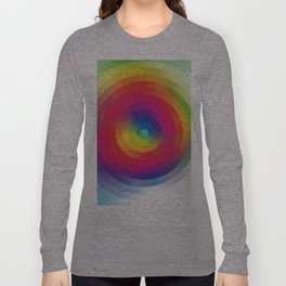 Color Sprial Long Sleeve T-shirt