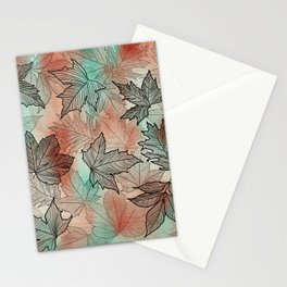 Layers of Leaves Stationery Cards
