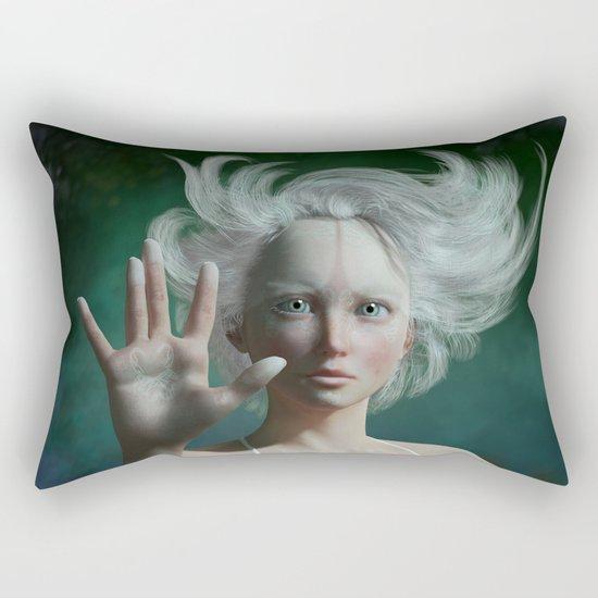White Faun Rectangular Pillow