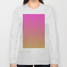 BOOGIE LIGHTS - Minimal Plain Soft Mood Color Blend Prints Long Sleeve T-shirt