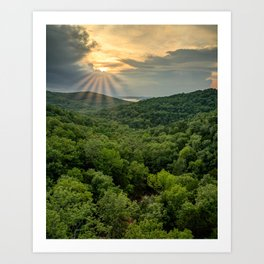End of Day Over Table Rock Lake - Ozark Mountain Sunset Art Print